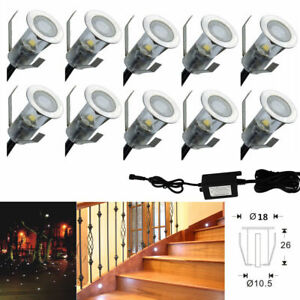 Image Is Loading 10xcool White Led Deck Step Lights Lamp 18mm