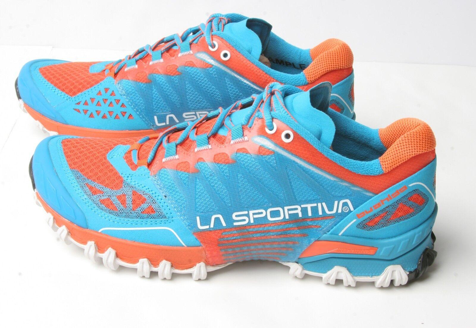 La Sportiva Uomo Bushido Trail Running Scarpa da Trekking (41) Blue Flame | comfort  | Uomini/Donne Scarpa