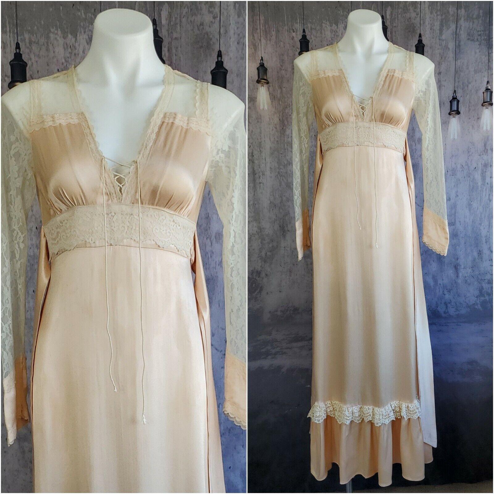 Gunne Sax satin beauty prairie 1970s dress - image 8