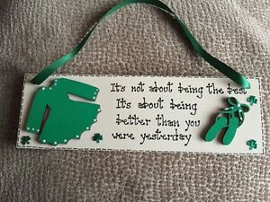 Gorgeous Wooden PlaqueSignKeepsake Ideal Gift For a Little Irish Dancer - <span itemprop=availableAtOrFrom>Coventry, West Midlands, United Kingdom</span> - Gorgeous Wooden PlaqueSignKeepsake Ideal Gift For a Little Irish Dancer - Coventry, West Midlands, United Kingdom