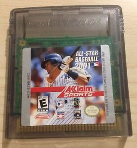 Nintendo-GameBoy-Color-ALL-STAR-BASEBALL-2001-Game-Cartridge-GBC-GBA-SP-Acclaim