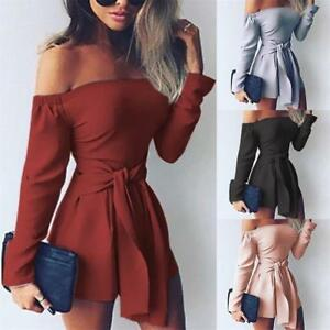 eb0a89b0cdf58 Image is loading Sexy-Playsuits-Boat-Neck-Rompers-High-Waist-Long-