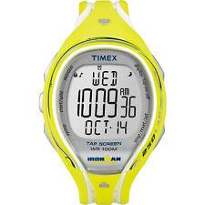 """Timex T5K789, """"Ironman"""" Tapscreen Yellow Resin Watch, 250-Lap, Alarm"""