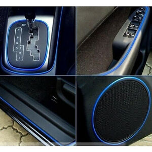 5m car interior accessory garnish trim blue edge gap line universal body decor ebay. Black Bedroom Furniture Sets. Home Design Ideas