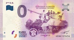 Billet-Touristique-0-Euro-2eme-DB-la-division-du-general-Leclerc-2019-1