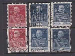 ITALY-1925-King-V-Emmanuel-III-Used-Sc-175-177-Sa-186-191