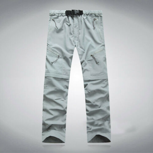 Men/'s Solid Quick Dry Outdoor Thin Detachable Waterproof Pockets Pants Trousers