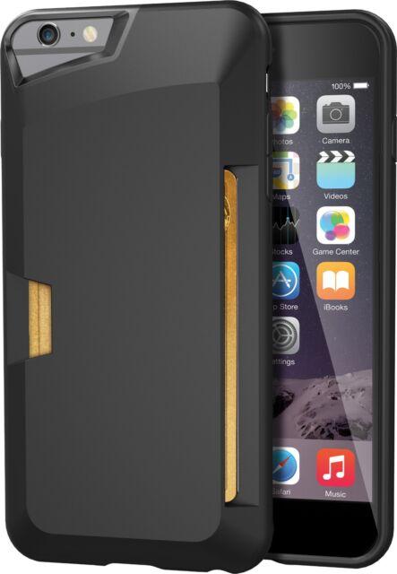 online store 898c2 56981 Silk iPhone 6s 6 Plus Vault Case Black Slim Wallet Card Cover Screen  Protector