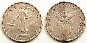 Filipinas-1-Peso-1907-Administracion-Americana-EBC-XF-Plata-20-g
