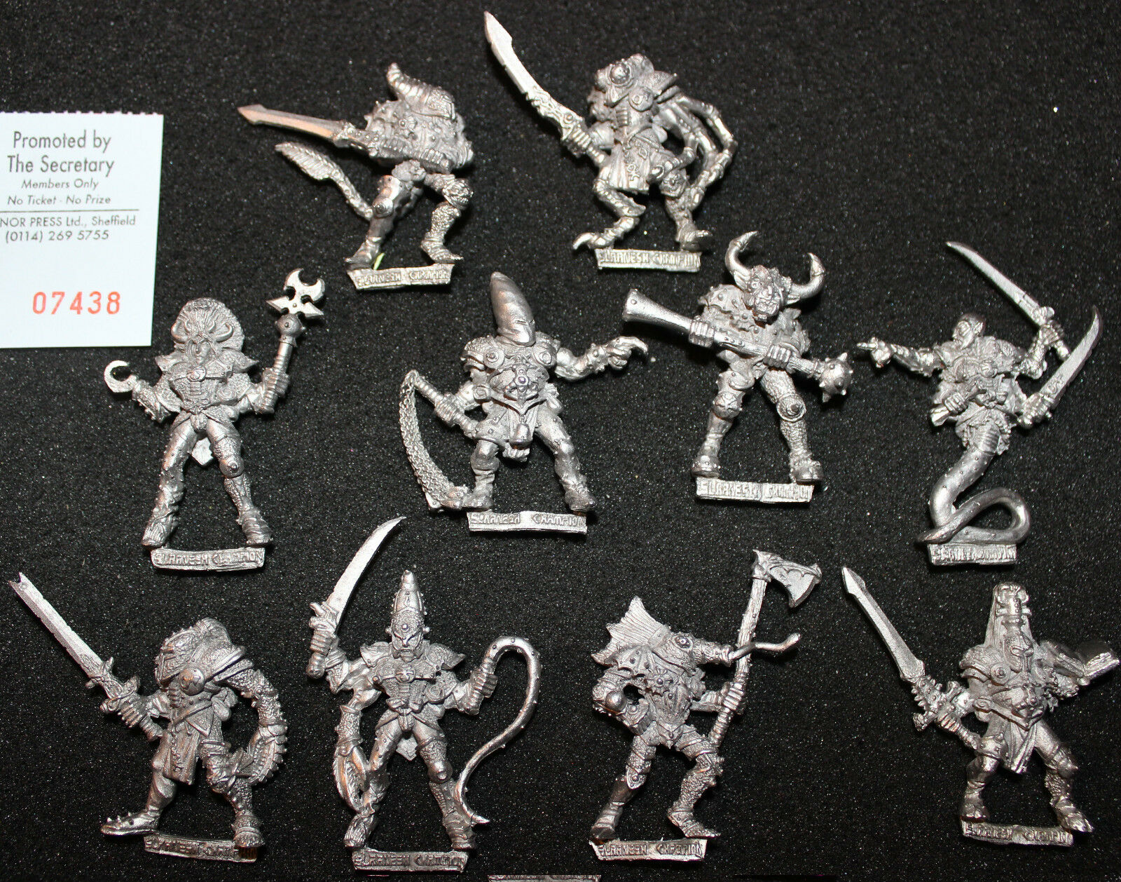 Citadel Realms of Chaos Champions of Slaanesh Metal Warhammer Fantasy Figures GW