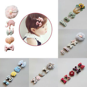 5PCS-Cute-Hairpin-Baby-Girl-Hair-Clip-Bow-Flower-Mini-Barrettes-Star-Kids-Infant