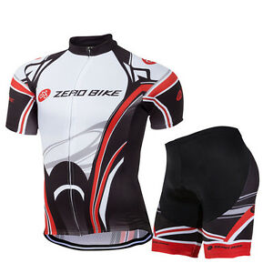 Men-039-s-Cycling-Bike-Bicycle-Sports-Clothing-Short-Sleeve-Jersey-Shorts-Wear-Suit