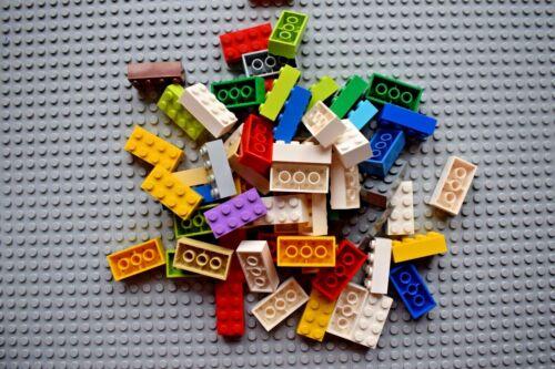 Lego Pack of 30 Genuine Bricks 2x4 Part Number 3001 Choose your colour Job Lot