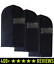 Breathable Garment Bags Suit Cover Set Of 3 Has Clear Window Reinforced Opening