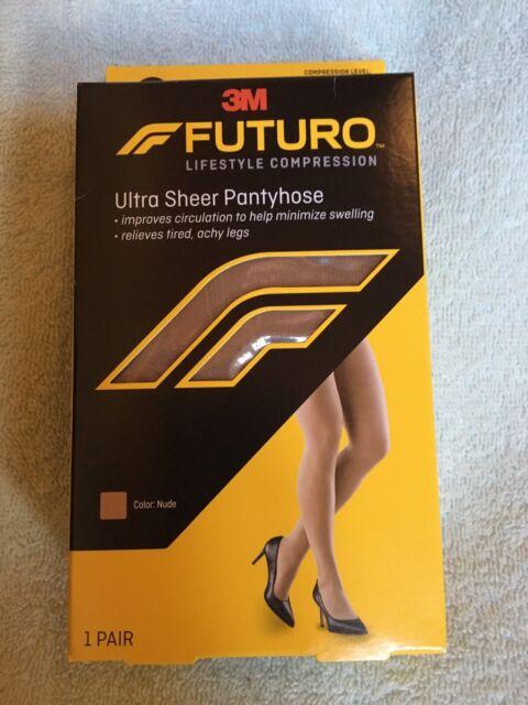 FUTURO Ultra Sheer Pantyhose Brief Nude Mild 1pr