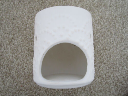 New Embossed Off White Oil Burner Wax Tart Melt Tealight Aromatherapy Present s