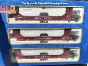 ATLAS-O-SEA-LAND-GUNDERSON-3-CAR-SET-NEW-FOR-LIONEL-MTH-DOUBLE-HUSKY-TWIN-STACK