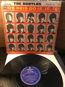 The Beatles Os Reis Brazil 1965 RARE Odeon Blue Label Mono LP A Hard Day's Night