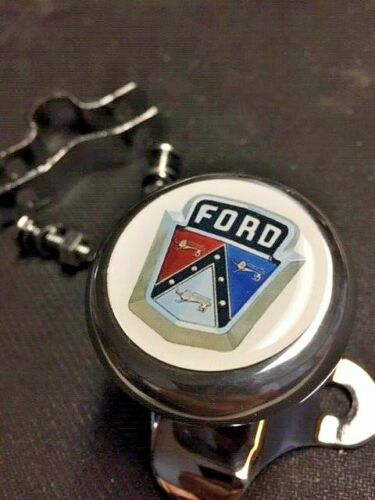 FORD CREST HEAVY DUTY BALL BEARING SUICIDE STEERING WHEEL SPINNER KNOB