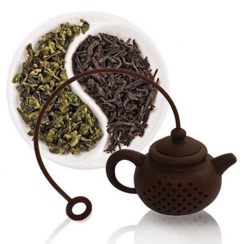 Durable Silicone Teapot Shape Tea Infuser Strainer Tea Bag Leaf Filter Diffuser