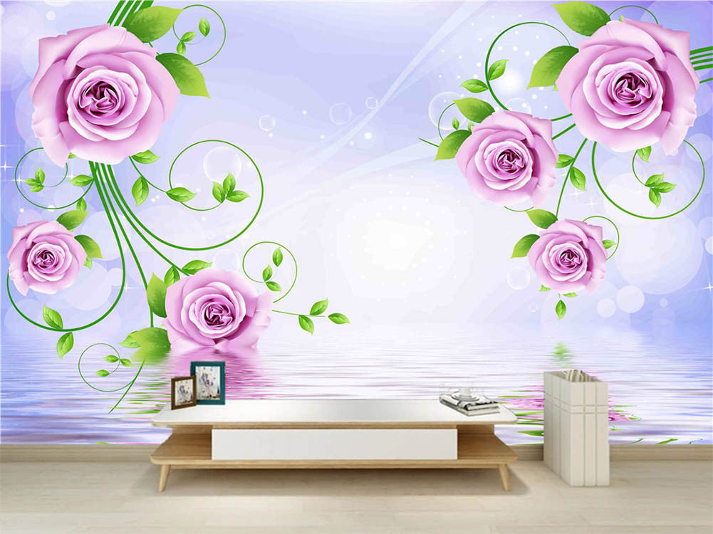 Fresh Royal Plum 3D Full Wall Mural Photo Wallpaper Printing Home Kids Decor