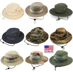 Image is loading Boonie-Bucket-Hats-Outdoor-Fishing-Hunting-Wide-Brim- 171588948c49