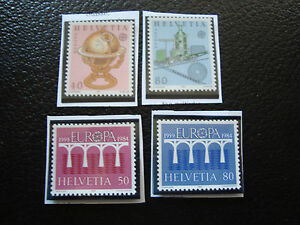 Switzerland-Stamp-Yvert-and-Tellier-N-1178-1179-1199-1200-N-A22-Stamp