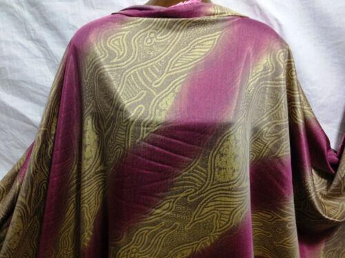 Silky Rayon Blend Gold//Mauve Striped//African Print  Dress//Craft Fabric*FREE P/&P*
