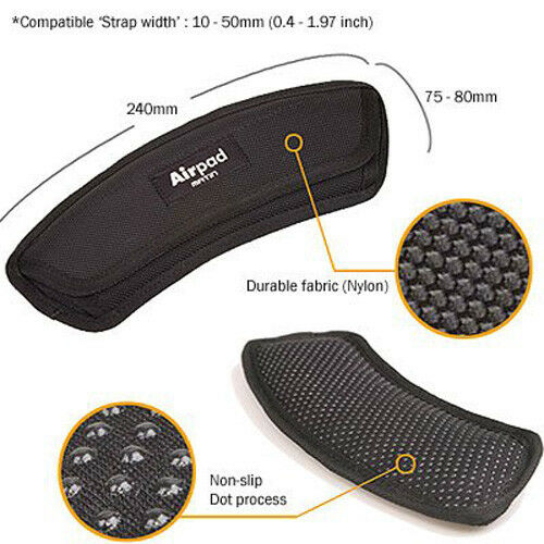 Curved Black Matin Air Cushion Shoulder Pad Heavy Dyty Replacement