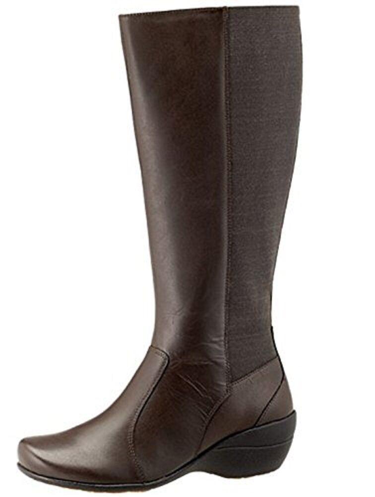 140 Damenschuhe Größe 9 M Hush Puppies Aimi Kana IIV Tall Casual Stiefel Dark Braun