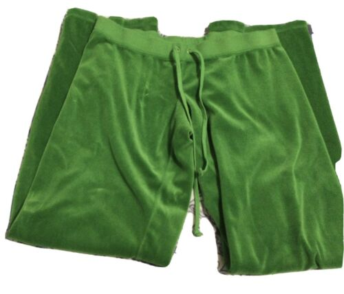 Juicy Couture Velour Tracksuit Pants Green Large