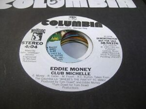 Rock-Promo-45-EDDIE-MONEY-Club-Michelle-on-Columbia-promo