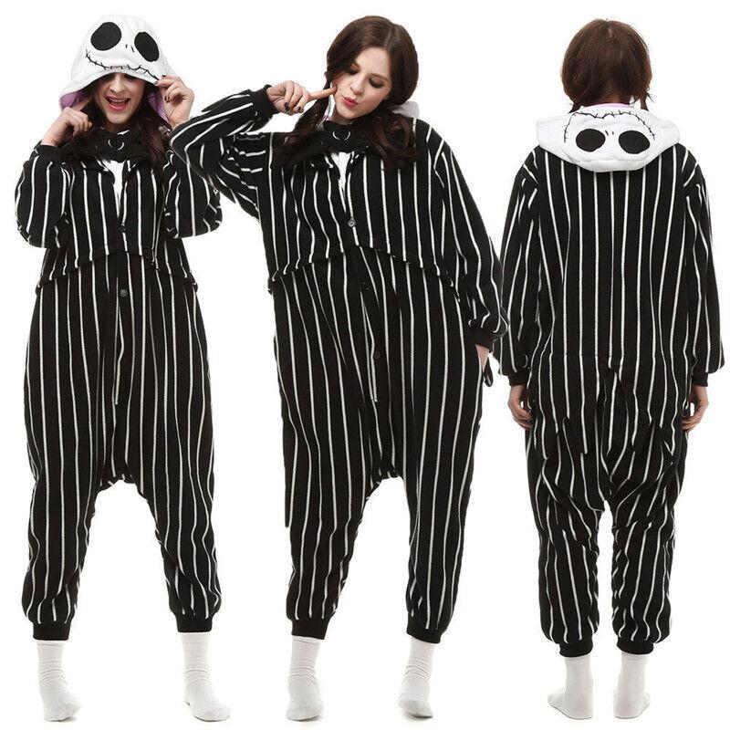 Nightmare Before Christmas JACK Adult Cosplay Kigurumi Pajamas Sleepwear