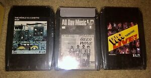 LOT-OF-3-SEALED-WAR-8-TRACK-TAPES-ALL-DAY-MUSIC-LIVE-THE-WORLD-IS-A-GHETTO-LOOK