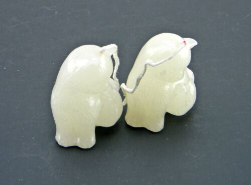 """LOT OF 2 NEW CAT FIGURE CANDLES 2-1//2/"""" UNSCENTED CANDLES WHITE KITTEN KITTY"""
