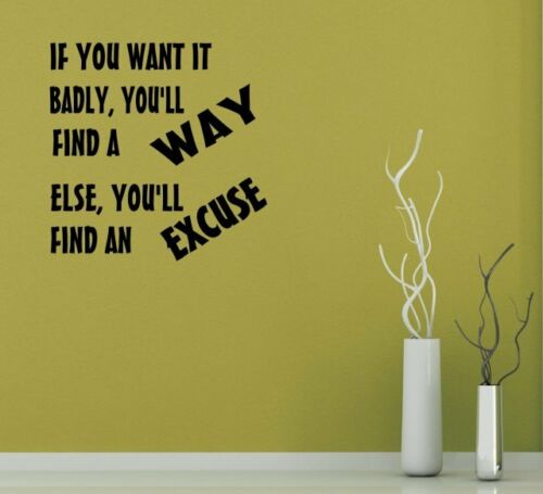 you/'ll find a way../' Motivational Wall Stickers JC Design /'If you want it badly