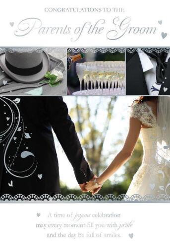Félicitations aux parents de la conception moderne marié Photo Mariage Carte
