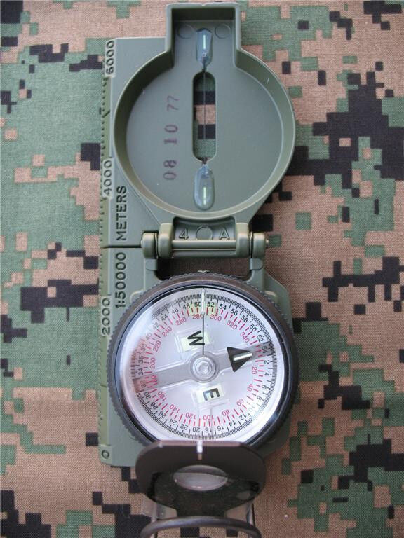 GENUINE MILITARY TRITIUM COMPASS by CAMMENGA  - Balanced for SOUTHERN HEMISPHERE  cheap and high quality