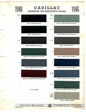 1946 CADILLAC FLEETWOOD COUPE DE VILLE SPECIAL 46 PAINT CHIPS SHERWIN WILLIAMS 2