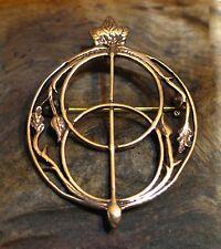 Fibel BRONZE Mittelalter Kelten Celtic Chalice Wells