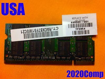 HP Pavilion DV9000 DV6000 DV2000 TX1000  ** 2GB ** RAM Memory PC2-6400