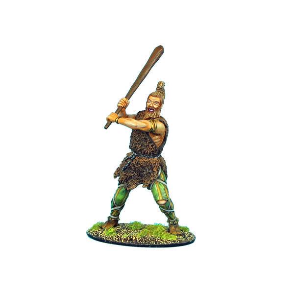 FIRST LEGION ROM036 German Warrior Swinging Club Painted Metal