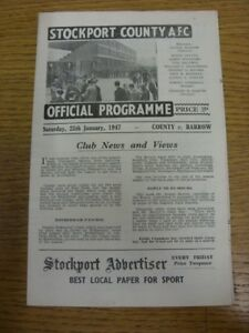 25-01-1947-Stockport-County-v-Barrow-Division-3-North-Any-faults-with-this-i