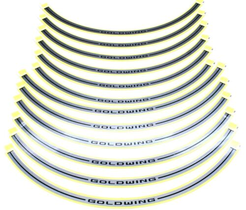 Genuine Honda Silver Vinyl Rim Strips 18-20 GL1800 Gold Wing Decal Strip #J171