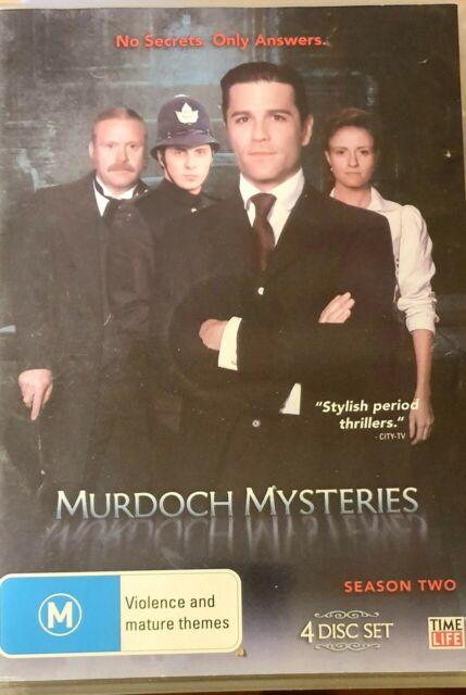 DVD - MURDOCH MYSTERIES - Series 2 (4 Disc Set) Complete Second Season Two R4