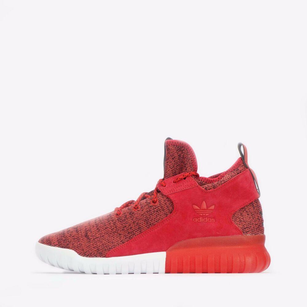 ADIDAS ORIGINALS tubulaire x tricot homme chaussures en rouge