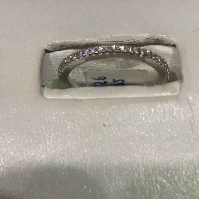 FREDRIC goldMAN 14K  WEEDING INFINITY RING 1 2 HAS .30 CTS TOTAL