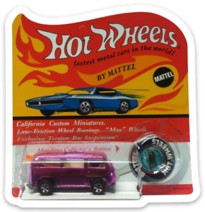 MAGNET-Hot-Wheels-1969-Rear-Loading-Beach-Bomb-Pink-MAGNET-for-Fridge-toolbox