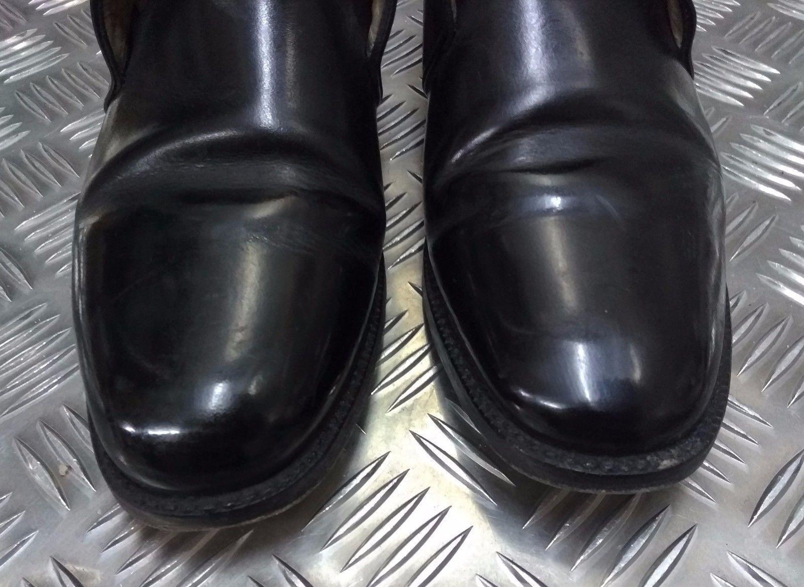 Auténtico Cuestión British Military Cuestión Auténtico Oficiales Jorge Botas Cuero Negro Ceremonial 945118