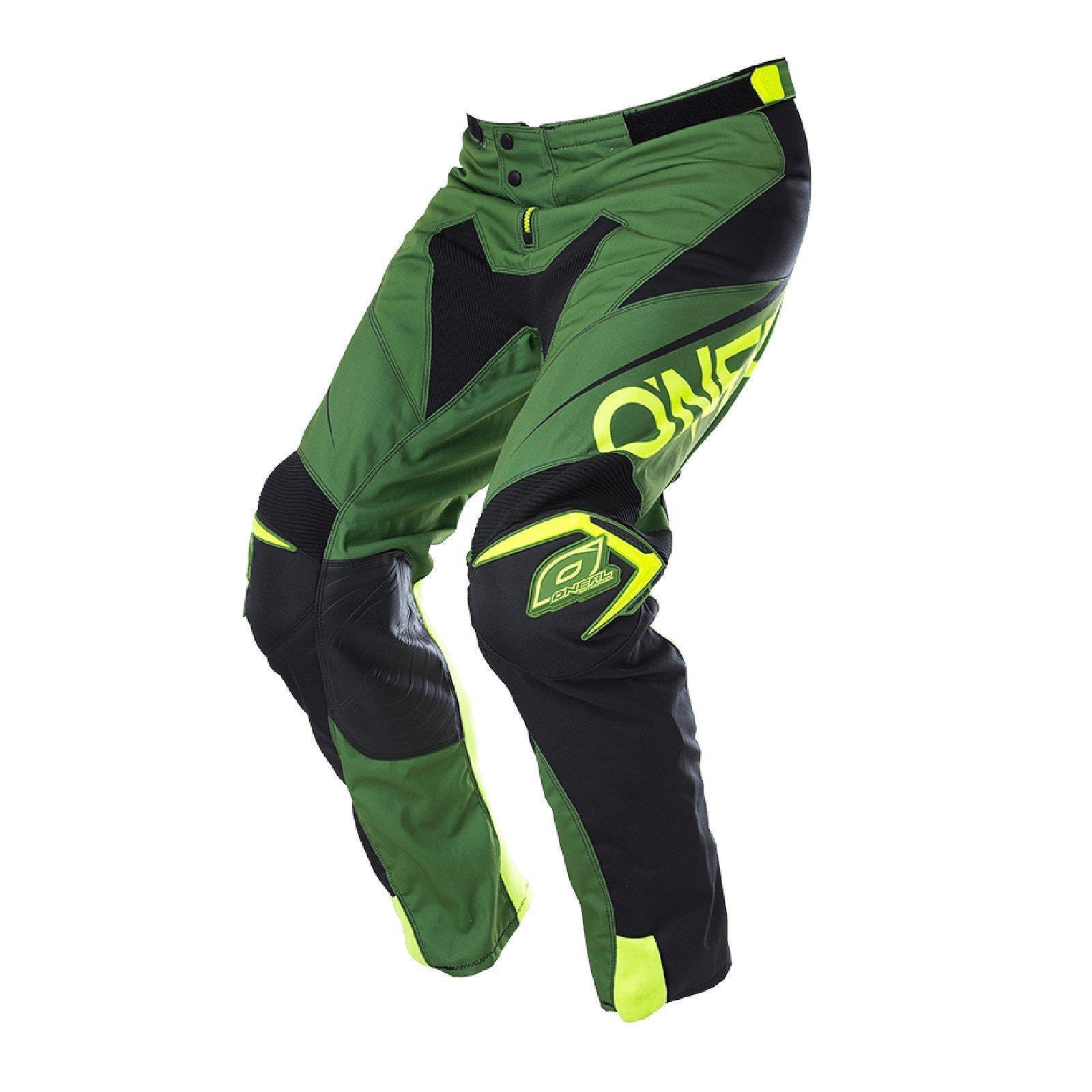 ONeal mayhem Lite pantalones bloqueador verde DH downhill bicicleta de montaña MTB FR Moto cross